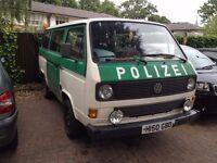 1991 Volkswagen Camper, Genuine Ex-German Police van