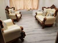 Luxury mahogany sofa set