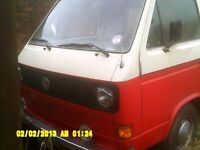 VW Vanagon T25 tin top camper LHD, running van with full awning, needs MOT