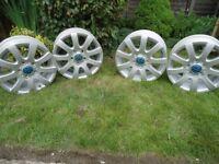 4 x 16 GENUINE VW (RONAL) alloy Wheels Will Fit VW CADDY VWT4 /GOLF /SARAN (PCD 5x112)