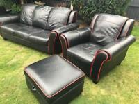 Dfs black leather sofa suite great cod thin can deliver locally