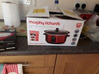 Morphy Richards slow cooker, bought as new never been used.