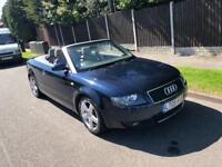 Audi A4 Convertible 3.0 Litre Petrol Auto 2005 Plate