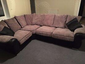 Grey corner couch