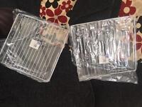 Brand new oven racks (metal shelves) still in the packet