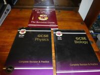 Excellent condition GCSE Biology and Physics complete revision & Practice guide