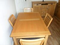 Soild Oak Table and Chairs