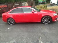 Audi A4 s line in nice red