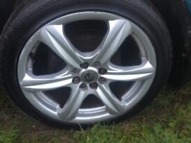 17 inch alloys in good condition with 4 good tyres will fit any 4 stud car