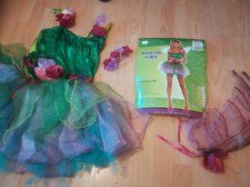 Ladies woodland fairy costume!size 10-12 vgc £10