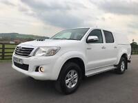 Toyota hilux hl3 d-4d double cab 4x4, 2013 (13) reg, 1 co owner, fsh, sat nav, air con, white