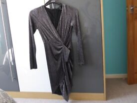 FREE AX PARIS SPARKLE WRAP DRESS IN UK SIZE 6