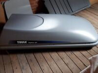 Thule Alpine 100 roof box with roof bars (bike rack also available)