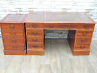 Executive Desk with Filling Cabinet + Key (Delivery)