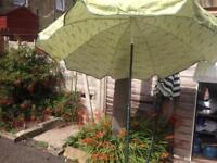 Garden parasol with base