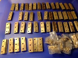 """solid brass 2"""" butt hinges"""