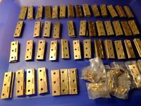 "solid brass 2"" butt hinges"