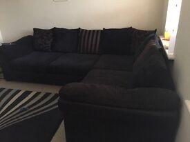 DFS black sofa