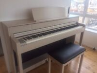 Yamaha Clavinova (Electric Piano) CLP 545 - White Ash - & Stool