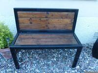 Solid Heavy Handmade Metal Wooden Bench