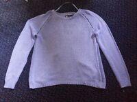 Size 16/18 Open Back Black Sweater, Atmosphere, Purple-ish Blue Colour