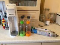 Soda stream, bottles & cannisters