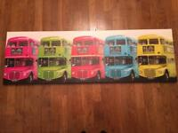 Picture of London buses 140 cm x 45cm