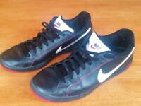 Black Leather Nike Men's Trainers