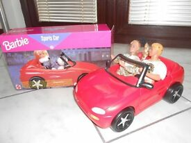 Barbie & Ken in Sportscar