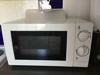 Microwave. Almost new. A few months of use. Cover plate included