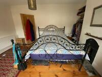Super king iron metal bed frame
