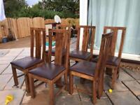 Table & six chairs