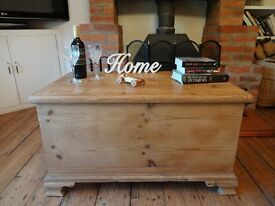 """LARGE PINE CHEST / TRUNK ~~ 37.5"""" x 21"""" x 21"""""""