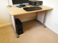 Computer desk and 2 storage units