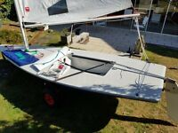 Laser Dingy for sale - Excellent condition, Launching trolley and full rigging.