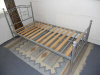 Single Metal Bed Frame with Wooden Slats - Please check the details