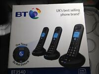 BRAND NEW BT3540 TRIO DIGI'L C'LESS PHONES/ANSWER MACHINE.