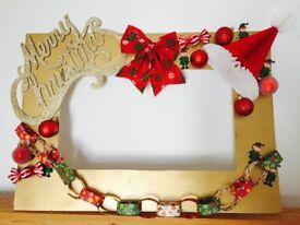 Personalised Christmas selfie frame