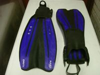Scuba Diving fins and shoes size 10