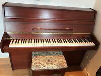 Kimble dark oak piano
