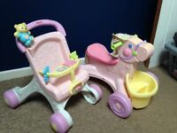 Fisher Price walker and horse