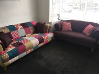 DFS Patchwork sofas for sale