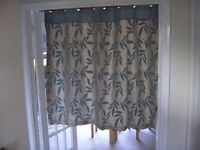 Lined curtains with eyelets