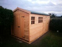 16X8FT HEAVY DUTY APEX GARDEN STORAGE TIMBER T&G SHED.