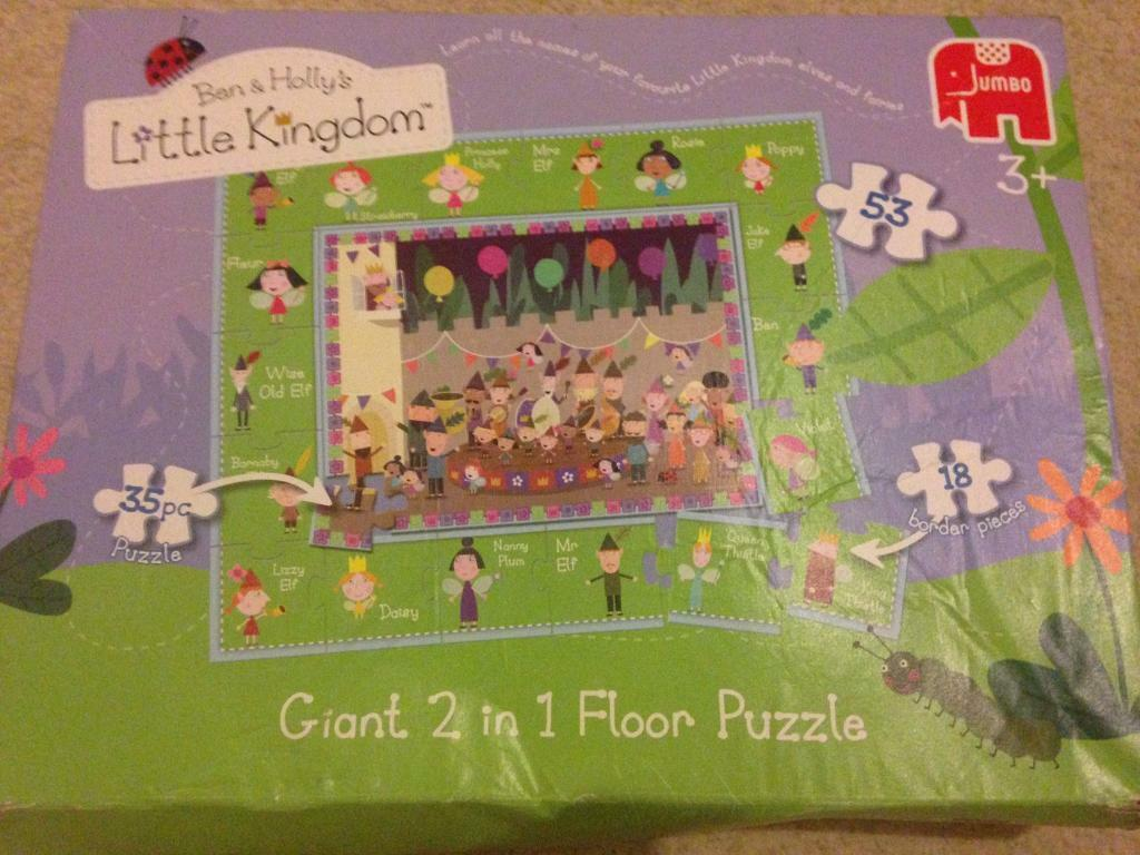 Ben and Holly giant 2 in 1 floor puzzle