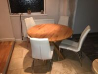Next oak dining table with 4 chairs