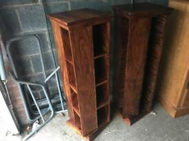 Indian Wood Sheesham CD / DVD Rotating Storage Unit