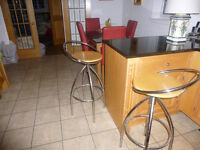 Kitchen/Bar Stools on Chrome and Beech