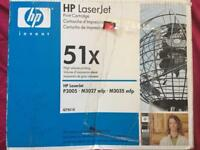 Original HP 51X Laserjet (Q7551X) High Yield Black Toner Cartridge.