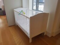 Cot bed with mattress and matress protector